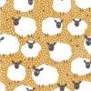 Jerseystoff Schafe gelb - Produktbild 1