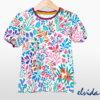 Bio Kinder-Kurzarmshirt Blumenwiese - Produktbild 1